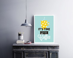 "Placa decorativa MDF ""It's Time For Coffee"""