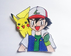 Patch Bordado Ash e Pikachu Pokémon - modelo2