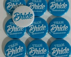Kit 20 Botons Bride e Team Bride