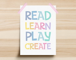 Poster Read Learn Play Create