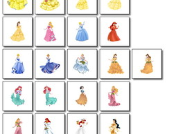 Kit Princesas Disney - 21 plaquinhas 10x10cm