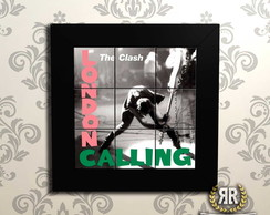 Quadro Decorativo The Clash London Moldura Preta 9 Azulejos