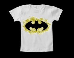 Camiseta Infantil Escudo do Batman