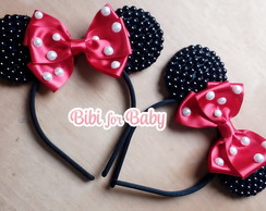 Kit Tiara Super luxo Minnie Vermelha