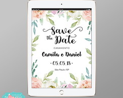 Convite Digital Save the Date - Mod Floral #62
