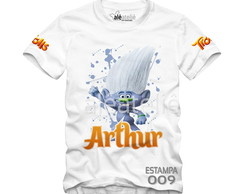 Camiseta Trolls Poppy Tronco Guy Diamante Personalizada