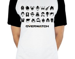 Camiseta Raglan Personagens Overwatch