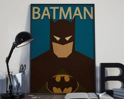 Quadro Batman decorativo com moldura 30x42