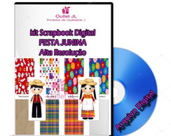 vetor, cartoon, coMega Pack Scrapbook Digital - Festa Junina