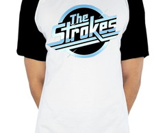 Camiseta Raglan banda The Strokes Bright logo