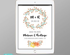 Convite Digital Save the Date - Mod Floral #64