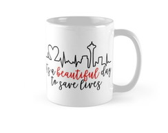 Caneca Grey's Anatomy It's a beautiful day to save lives 3