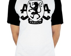 Camiseta Raglan banda Asking Alexandria estampa Family