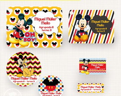 Kit Etiqueta Escolar - Mickey