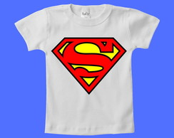 Camiseta Infantil Escudo do Superman!
