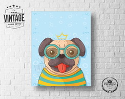 Placa Decorativa Animais Dog Pug