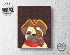 Placa Decorativa Animais Dog Pug 2
