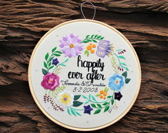 Quadro bastidor Felizes para Sempre - Happily Ever After