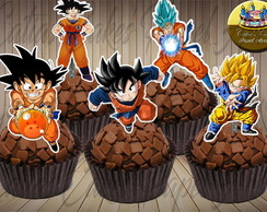 Dragon Ball 50 topper para doces