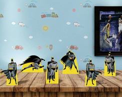 kit 6 displays totens festa de mesa Batman