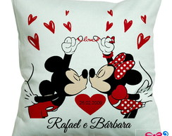 Almofada Love Mickey e Minnie Personalizada com Nome e Data