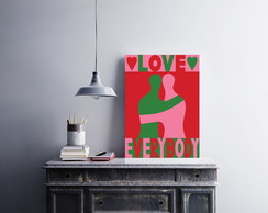 "Placa decorativa MDF ""Love Everybody"""