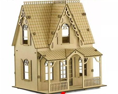 Casa De Bonecas Mdf Para Polly Barbie Pocket E Similares C1