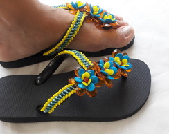HAVAIANAS TOP E CHINELOS BORDADO C/ FLORES MADRINHAS