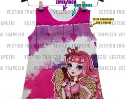 Vestido Infantil ever after high crepe acetinado
