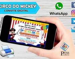 CONVITE DIGITAL CIRCO DO MICKEY