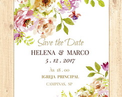Save the Date digital florido