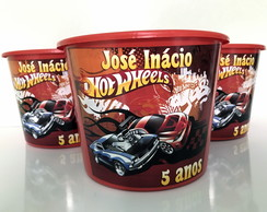Balde de Pipoca Hot Wheels