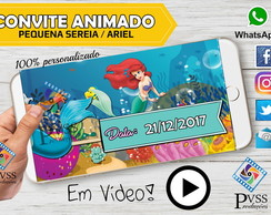 VIDEO CONVITE ANIMADO DIGITAL PEQUENA SEREIA ARIEL