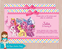 Arte Convite My Little Pony