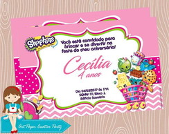 Arte Convite Digital Shopkins