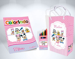 Kit de Colorir Baby Disney Sacola Revista Giz Brindes