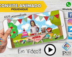VIDEO CONVITE ANIMADO PICNIC