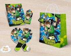 Kit Ping Pong + kit colorir Ben 10