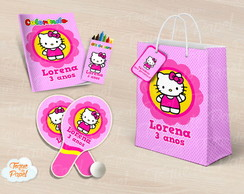 Kit Ping Pong + kit colorir hello kitty