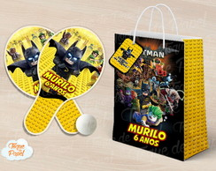Kit Ping Pong sacola lego batman