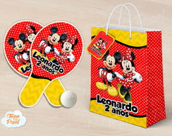 Kit Ping Pong sacola mickey e minnie