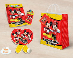 Kit Ping Pong + kit colorir mickey e minnie