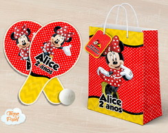 Kit Ping Pong sacola minnie