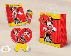 Kit Ping Pong + kit colorir minnie