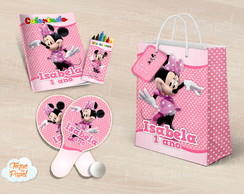 Kit Ping Pong + kit colorir minnie rosa