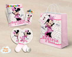 Kit Ping Pong + kit colorir minnie floral