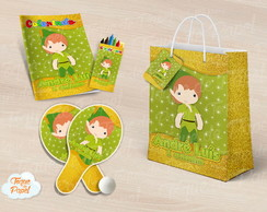 Kit Ping Pong + kit colorir peter pan cute baby
