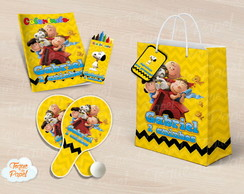 Kit Ping Pong + kit colorir snoopy charlie brown