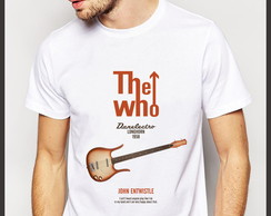 Camiseta Rock The Who John Entwistle Danelectro Longhorn