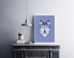"Placa decorativa MDF ""Lobo"""